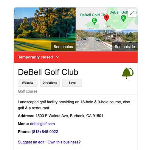 DeBell golf course image Jose Mier Sun Valley
