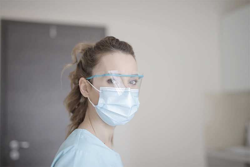 Sun Valley nurse wearing PPE