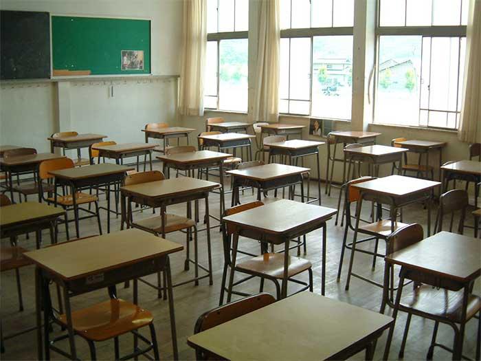 Empty Sun Valley CA classroom