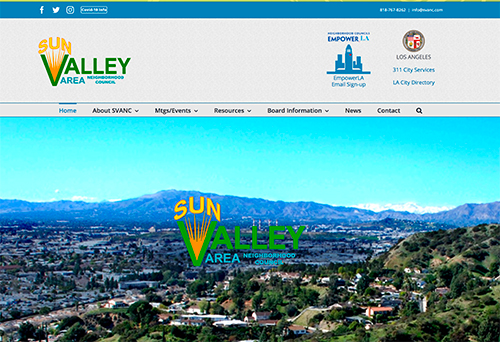 Sun Valley Area Neighborhood Council website image
