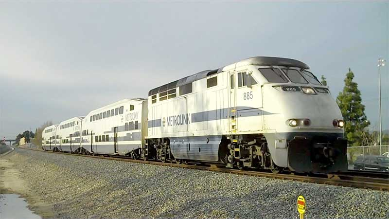 metrolink train in Sun Valley, CA