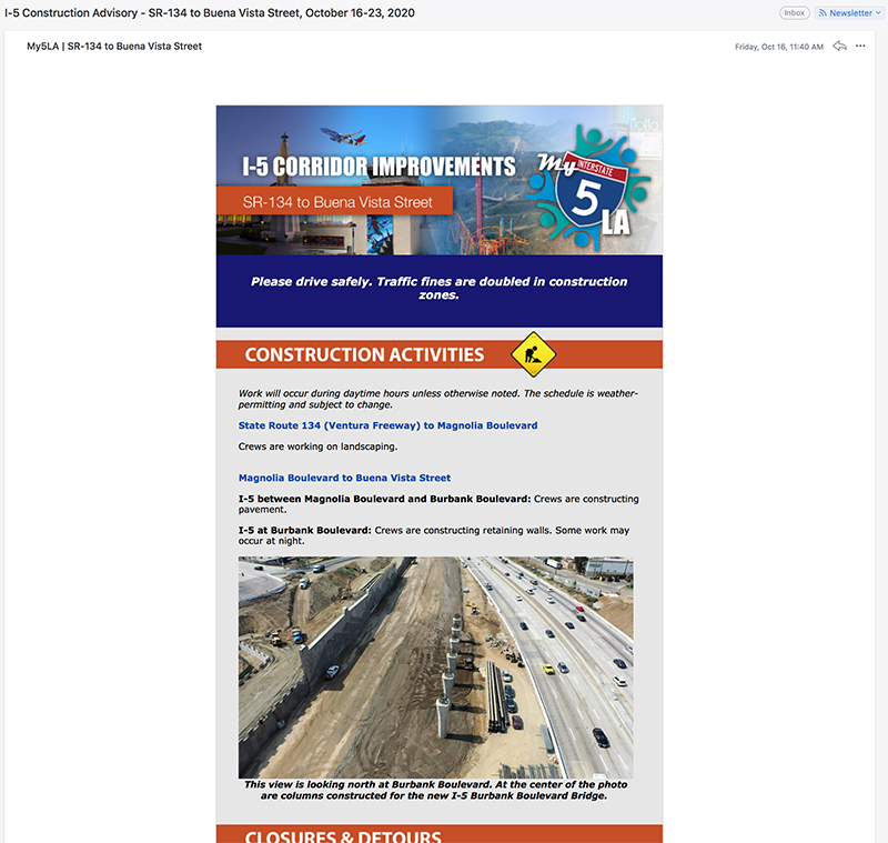 My5LA.com newsletter in Jose Mier's inbox