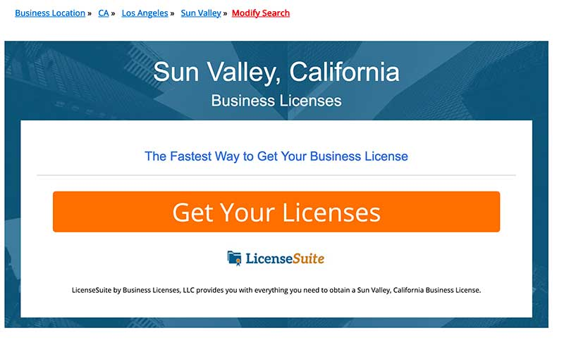 jose mier sun valley business license site